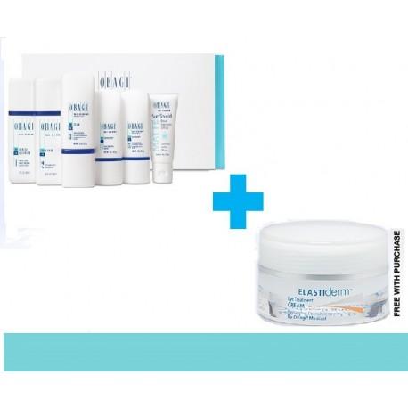 Obagi Nu-Derm Travel Set (normal to dry skin) + Free Elastiderm Eye Treatment Gel
